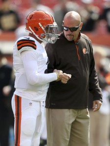 It is hard to imagine very many fist-bumps between Pettine and Manziel in the future.