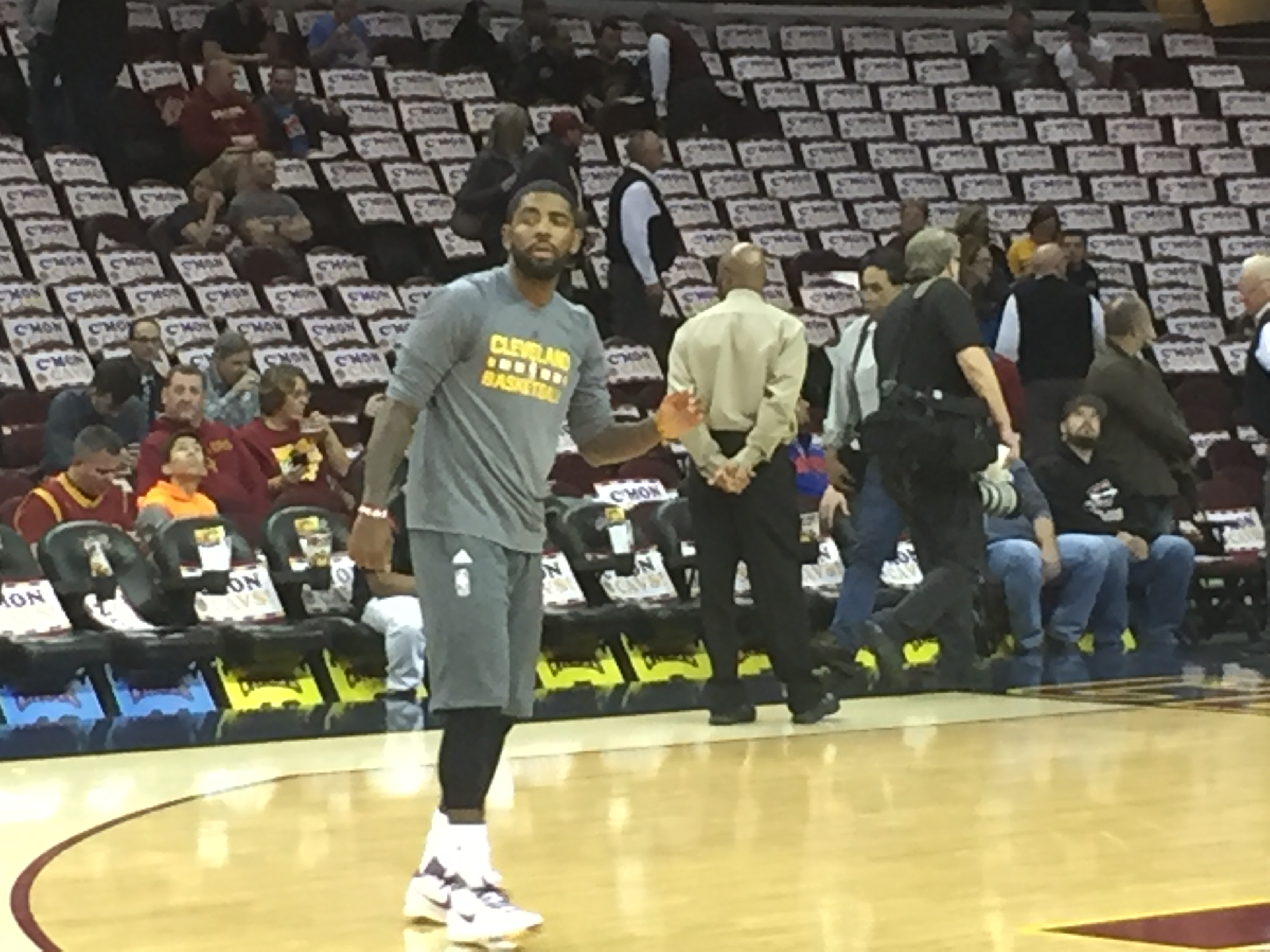 bb54b0da7190 Cavaliers guard Kyrie Irving is working to get back on the court to help  his team