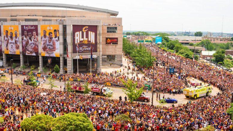 2016 Cavs championship parade via neosportsinside.com