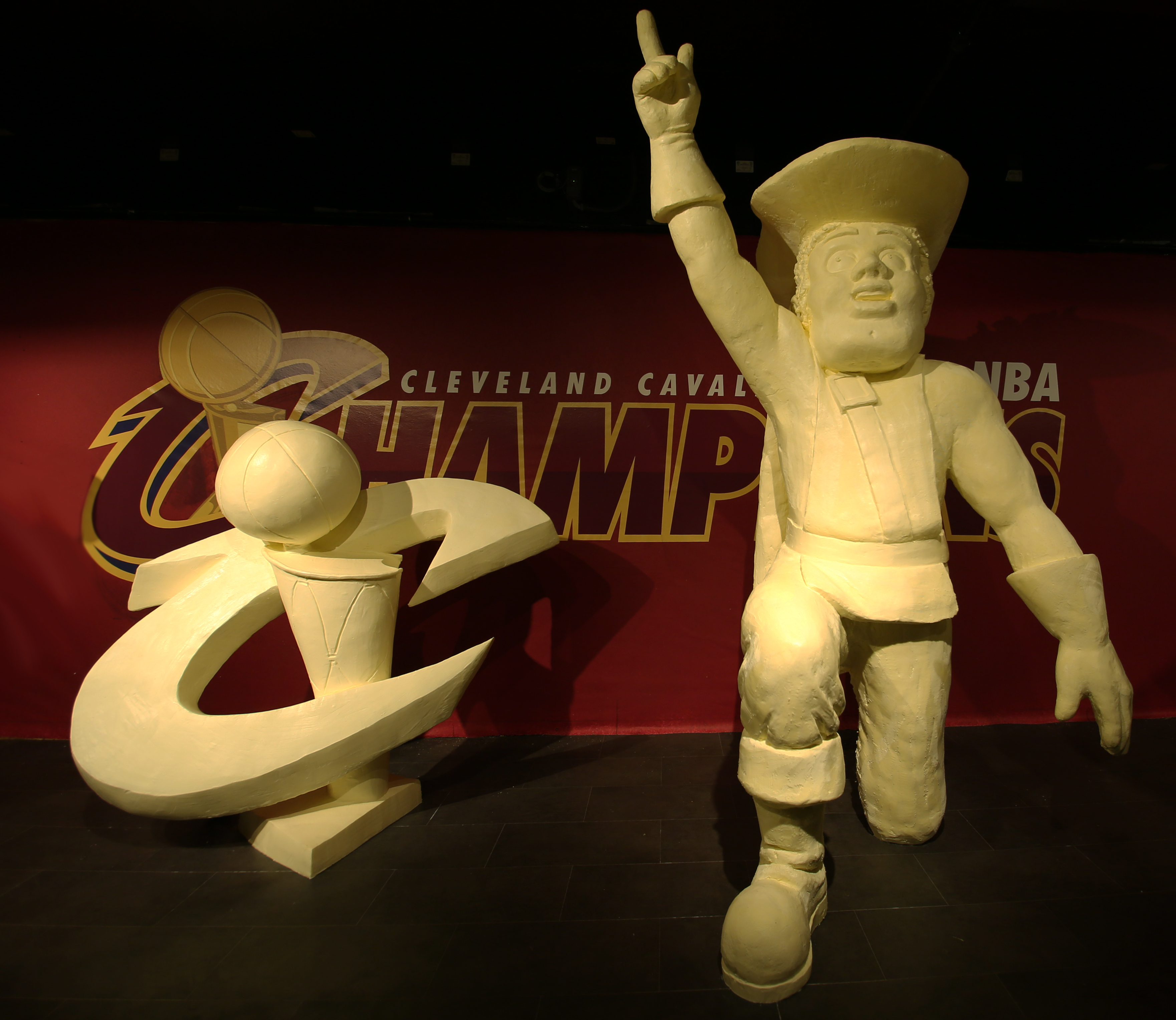 Each year, the American Dairy Association Mideast chooses a butter display theme that honors Ohio`s history and culture. This year, they celebrate the historic victory of the Cleveland Cavaliers.