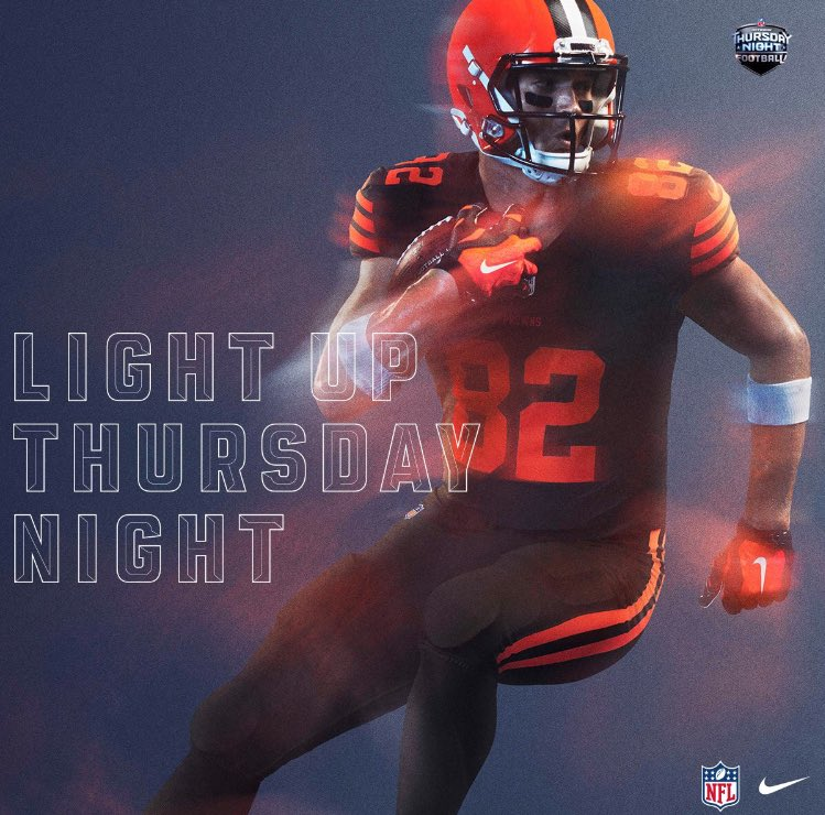 970e9521 NFL Promotes Browns New Color Rush Uniforms for Ravens Game – But They  Can't Wear Them