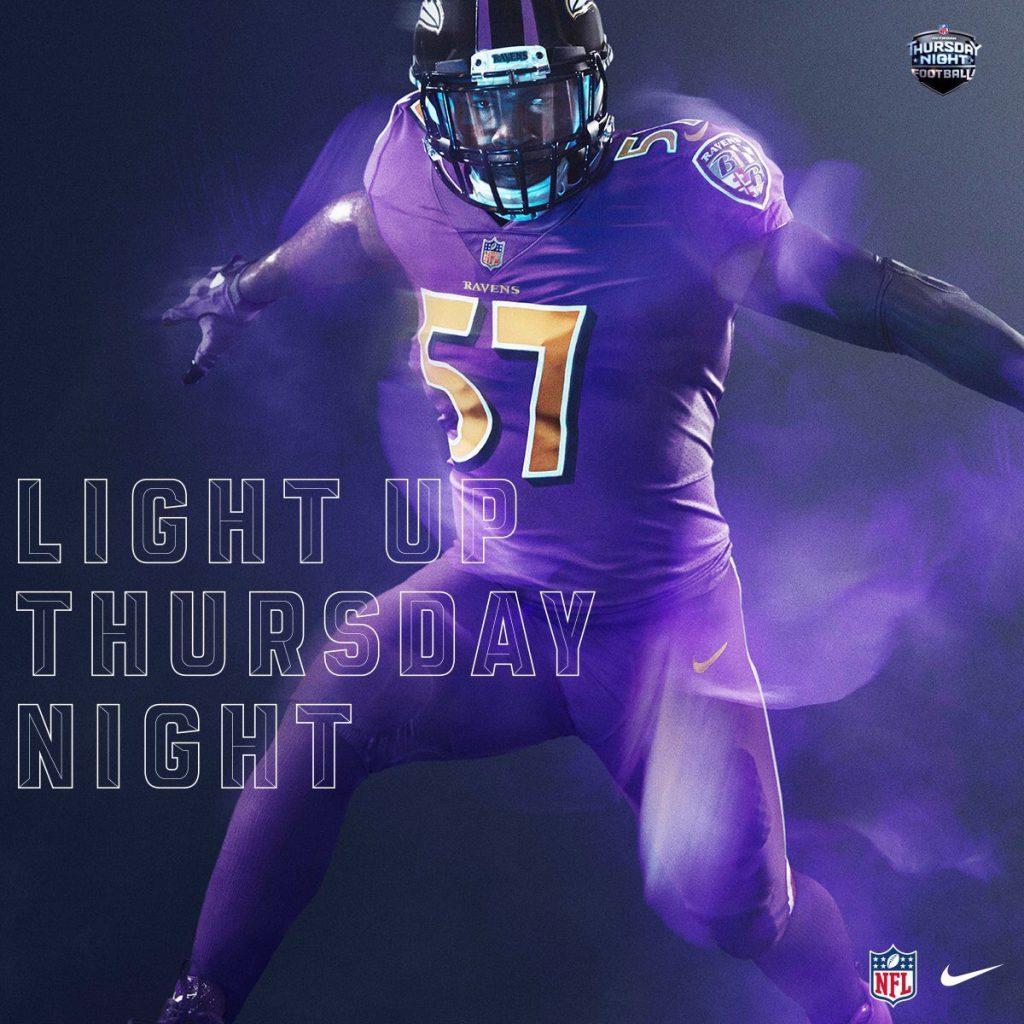 Ravens Color Rush Uniform