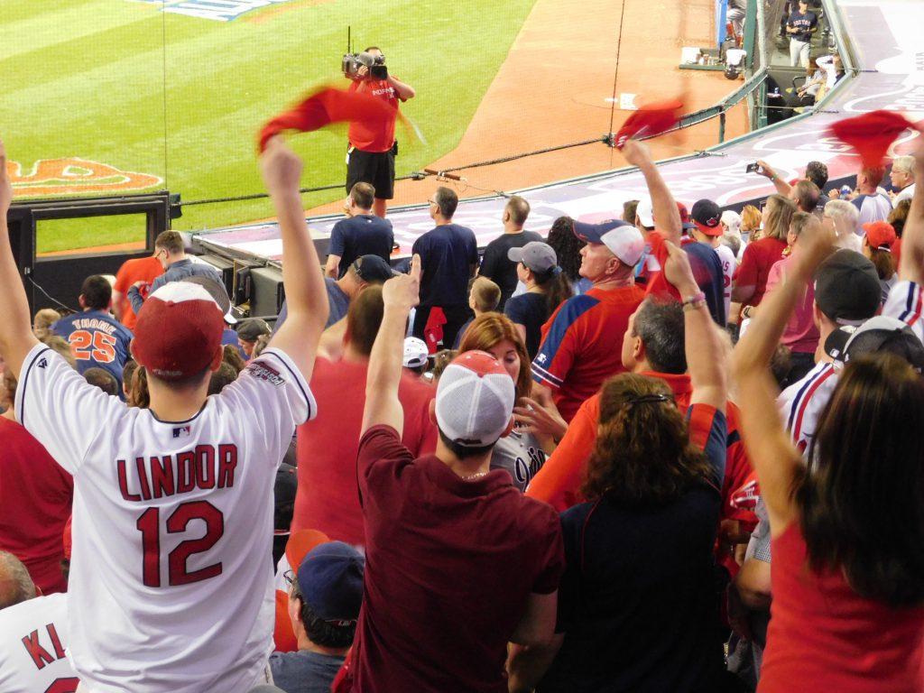 Indians Fans Red Sox ALDS 1