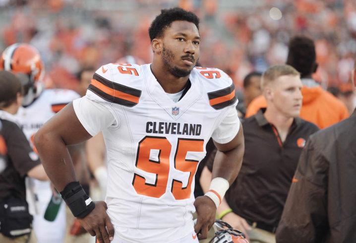 "b6c7bd09ce1d Browns Defensive End Myles Garrett Criticizes Kevin Durant In Interview  Thursday Morning  ""KD Broke The League"""