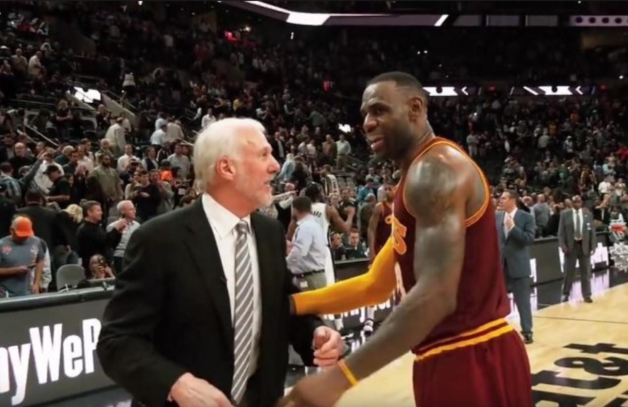 40910cd85a45 Spurs  Gregg Popovich talks LeBron James  career
